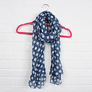 Scarf, Midi Scarf Powder Blue