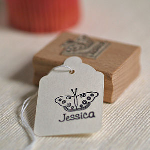 Personalised Butterfly Stamp - stationery