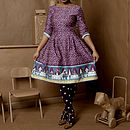 Beatrice Chocolate Shop Dress In Plum