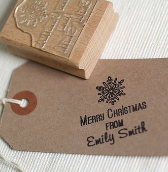 Christmas Snowflake Rubber Stamp