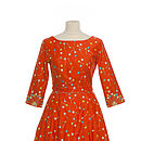Beatrice Orange Lollipop Dress
