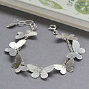 Floating Butterfly Bracelet   Sterling Silver