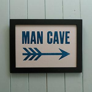 Letterpress Print: Man Cave - ultimate man cave