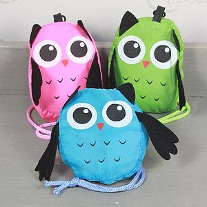 Owl Fold Up Shopping Bag - women's sale