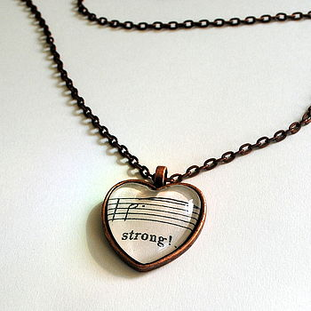 So Strong Music Heart Pendant