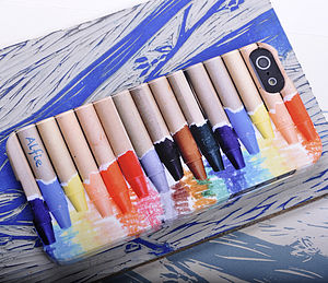 Personalised Wax Crayon Set For iPhone - bags & purses