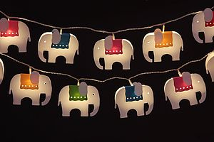 Elephant LED Light Chain - parties