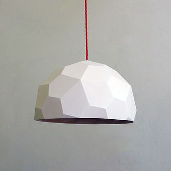 Polyglobe Pendant Light - Red cord