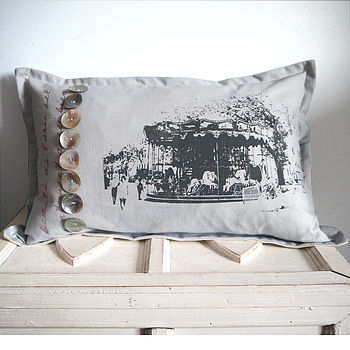 Deluxe Paris Carousel Cushion