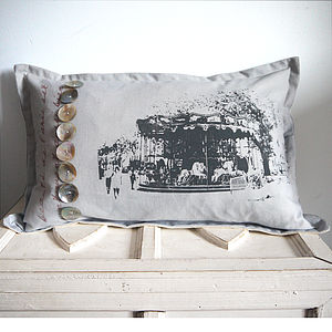 Deluxe Paris Carousel Cushion - patterned cushions