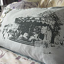 Close up of cushion