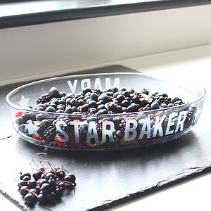 Personalised 'Star Baker' Glass Dish - gifts for her
