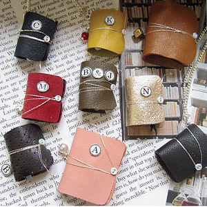 Mini Leather Charm Book Message Keepsake Gift