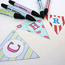 Colour In Christmas Bunting Kit