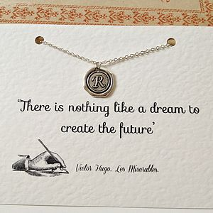 Personalised Book Quote And Initial Necklace - necklaces & pendants
