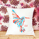 Personalised Hummingbird Cushion