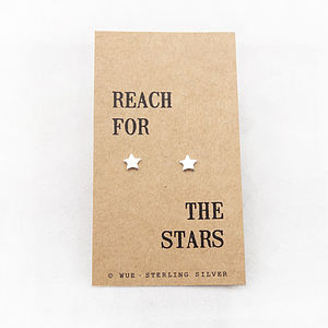 'Reach For The Stars' Silver Earrings - earrings