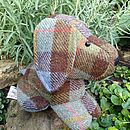Harris Tweed Dog Doorstop - brown check