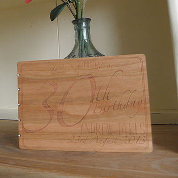 Personalised Wooden Birthday Photo Album