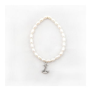 Pearl Charm Bracelet We Are Sailing