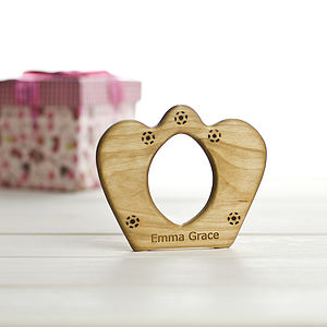 Organic Personalised Crown Teether - baby care