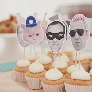 Personalised Novelty Wedding Cupcake Toppers