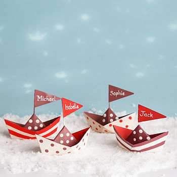 Personalised Table Boats