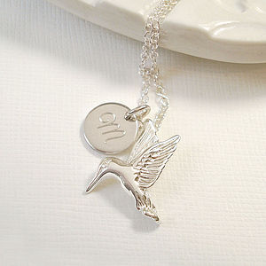Personalised Hummingbird Necklace