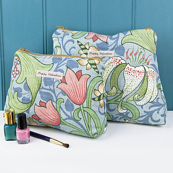 Cosmetic Bag Gift Set Blue Lily