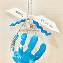 Personalised Hand Print Bauble Kit