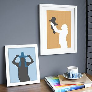 Personalised Family Silhouette Print - gifts for families