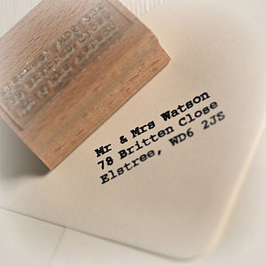 Address Rubber Stamp - wedding stationery
