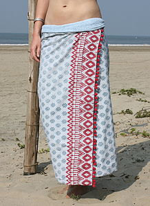 Fiji Design Sarong Towel - women's fashion