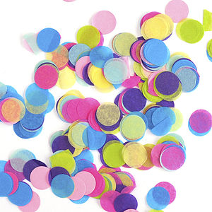 Round Tissue Paper Confetti - children's parties