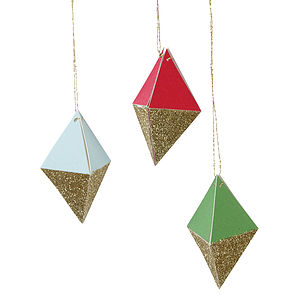 3 D Jewel Shaped Tags/ Decorations