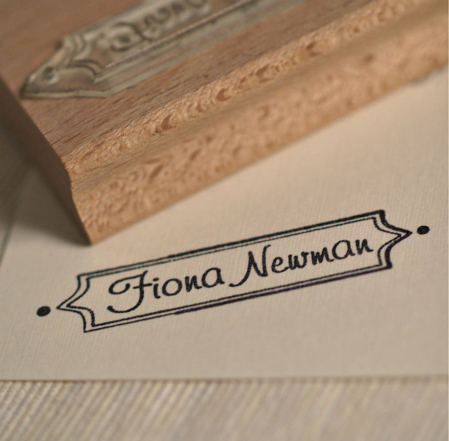 framed name rubber stamp by pretty rubber stamps