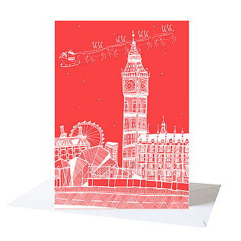 Big Ben London Christmas Card