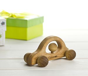 Personalised Classic Wooden Car - traditional toys & games