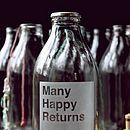 Birthday Etched Milk Bottle