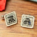 Circus Initial Dictionary Cufflinks Square
