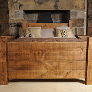 Solid Wood Bed - furniture