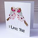 Personalised Love Bird Card
