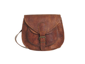 Compact Vintage Style Leather Handbag - bags & purses