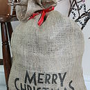 Christmas Hessian Sacks