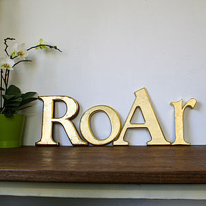 Authentic Vintage 'Roar' Sign - decorative letters
