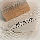 Personalised Name Rubber Stamp