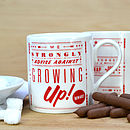 'Growing Up' Retro Mug