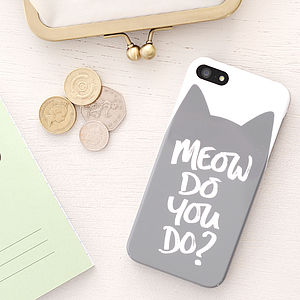 'Meow Do You Do?' iPhone Case - shop by personality