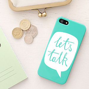 'Let's Talk' iPhone Case - accessories