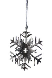 Large Three D Nickle Snowflake Decoration